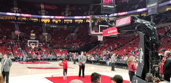 Courtside at Moda Center, Portland