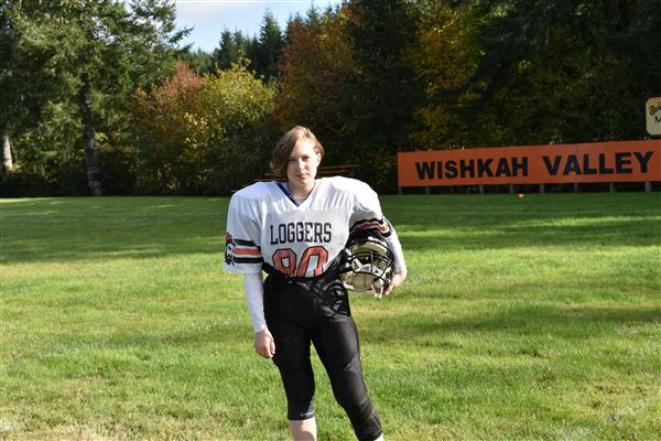 (Kelcey Bernhardy | Wishkah Publishing) Maren Erickson is one of eight players on the Wishkah Valley football team.